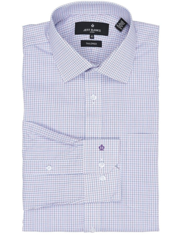 Chiltern Lilac Check Tailored Fit Business Shirt image 1