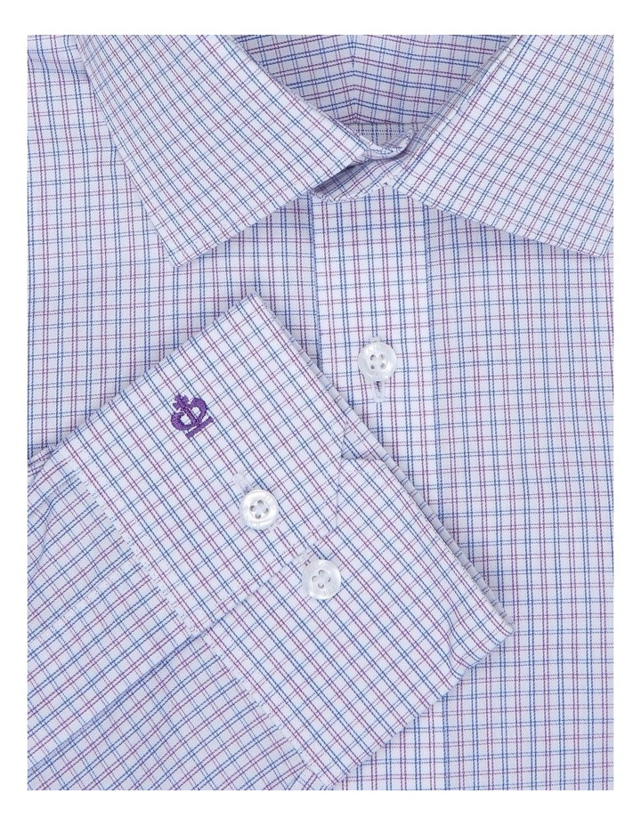 Chiltern Lilac Check Tailored Fit Business Shirt image 2