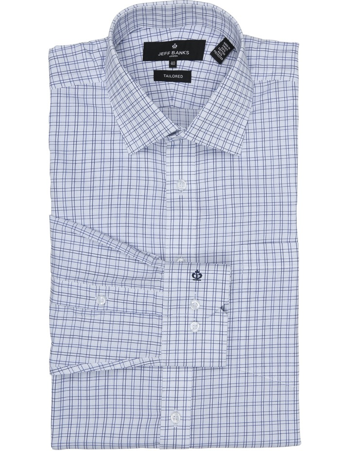 Chermside Navy Check Tailored Fit Business Shirt image 1
