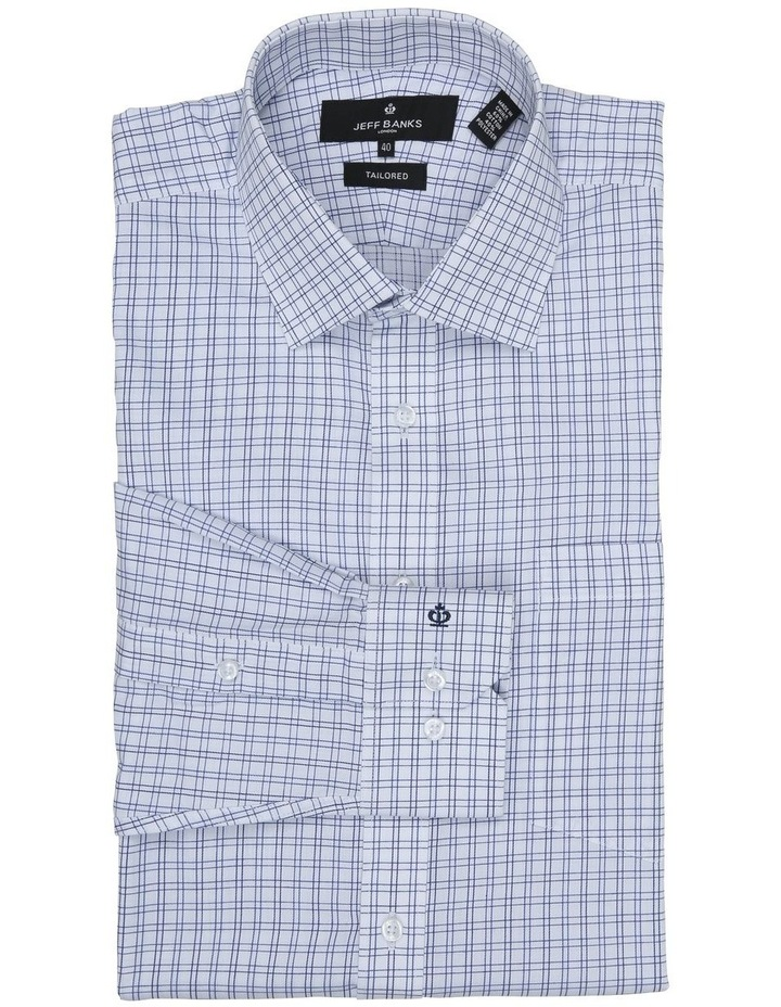 Chermside Navy Check Tailored Fit Business Shirt image 2