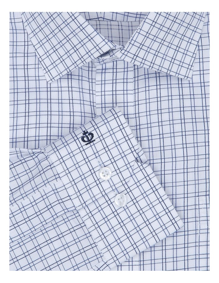 Chermside Navy Check Tailored Fit Business Shirt image 4