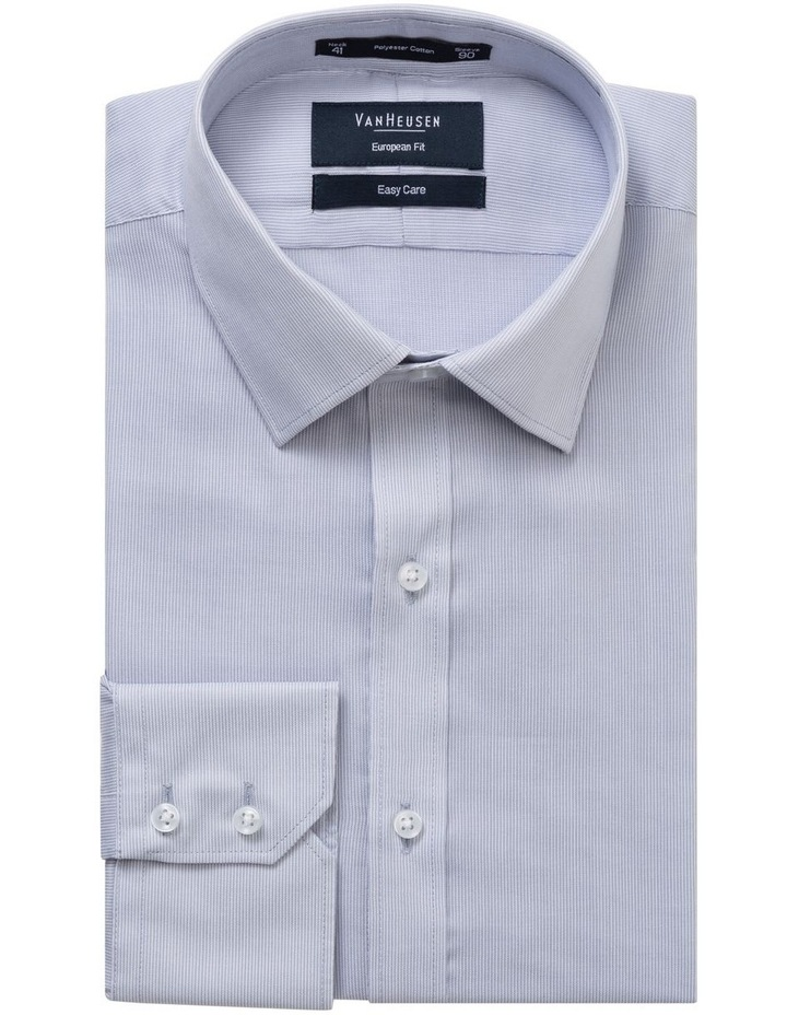 STRIPE BUSINESS SHIRT SILVER image 1