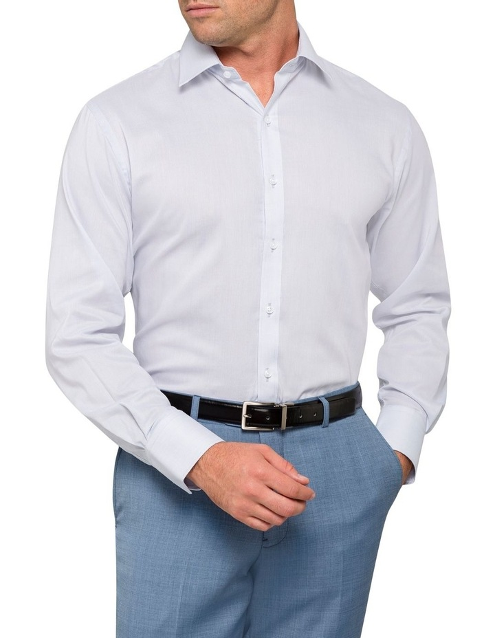 STRIPE BUSINESS SHIRT SILVER image 2