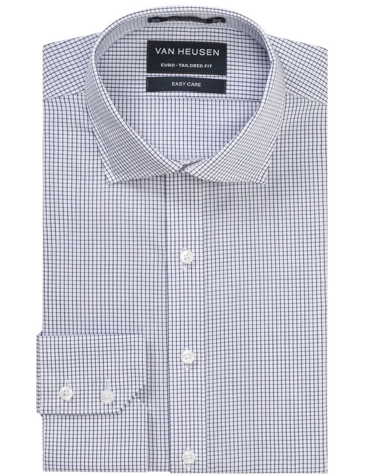 CHECK BUSINESS SHIRT NAVY image 1