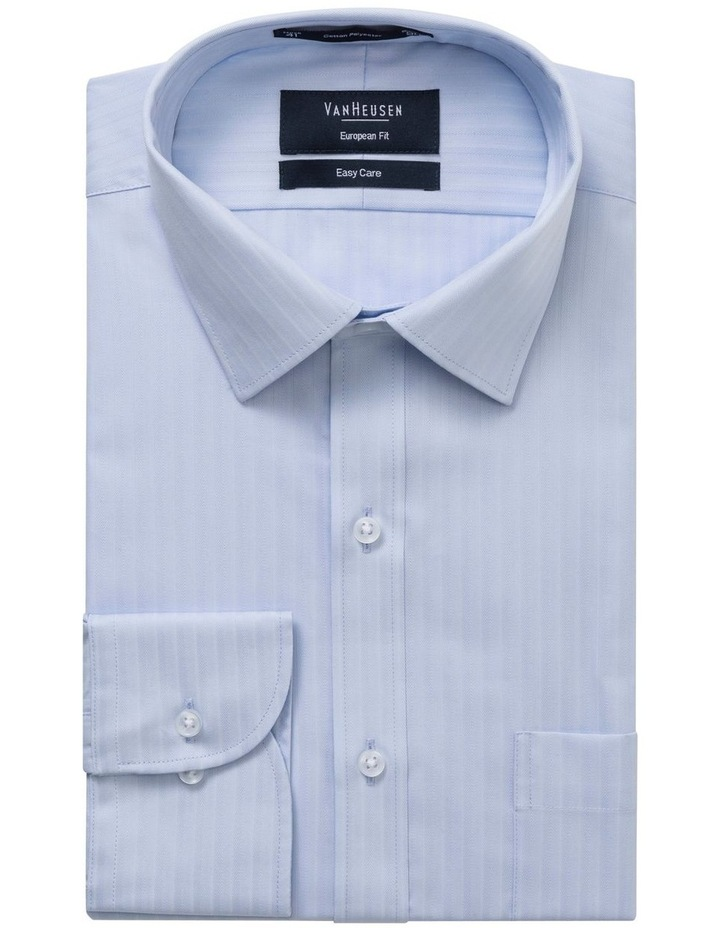 STRIPE BUSINESS SHIRT BLUE image 1