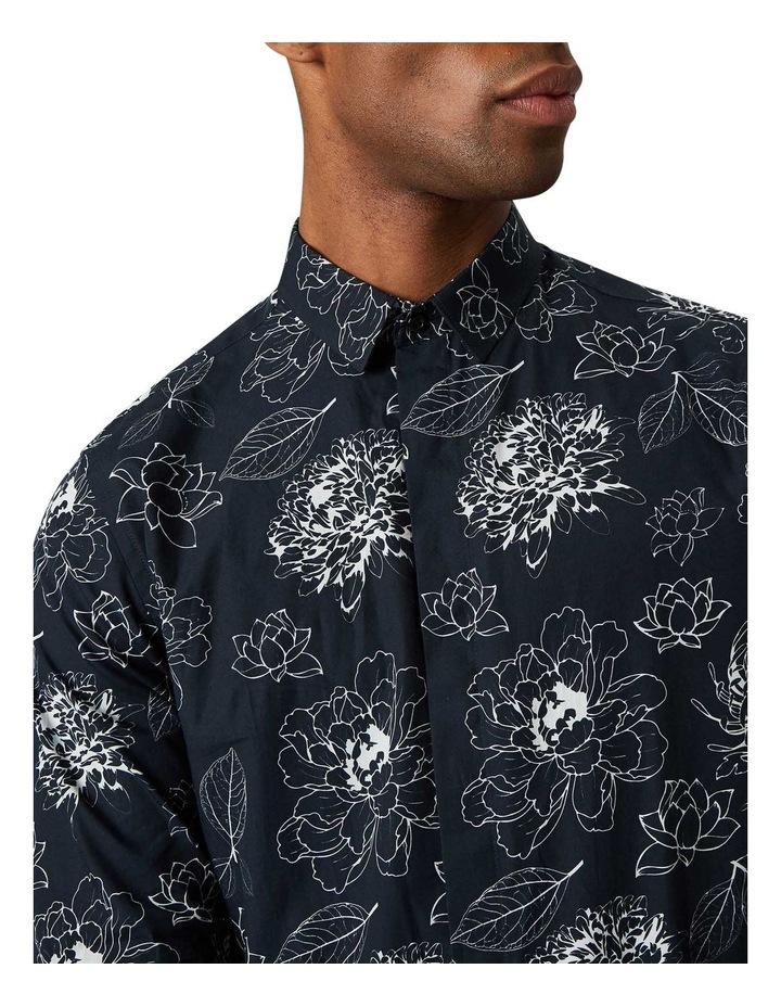 Hagen Print Business Shirt Navy image 2