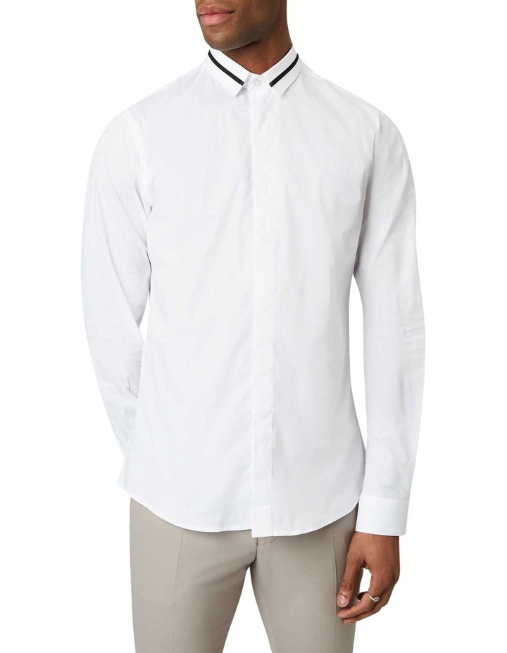 Peringo Plain Business Shirt White image 1