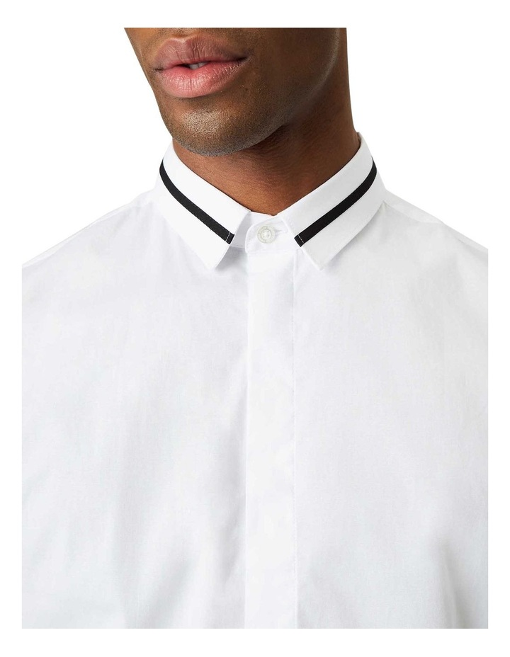 Peringo Plain Business Shirt White image 2