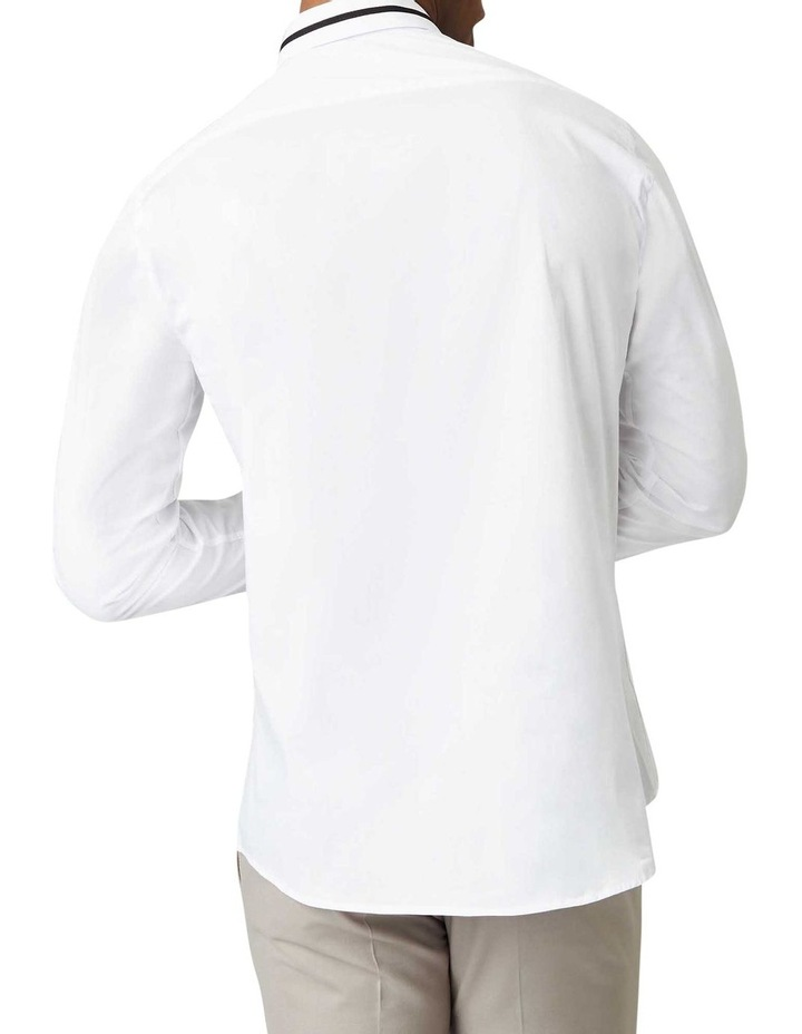 Peringo Plain Business Shirt White image 3
