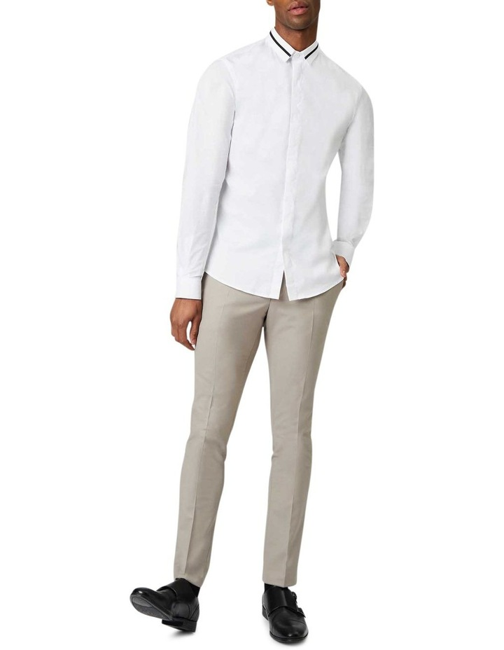 Peringo Plain Business Shirt White image 4