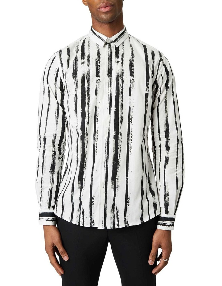 Marconi Print Business Shirt White image 1