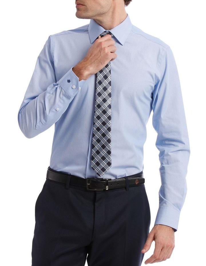 Slim Stripe Business Shirt Sky image 1