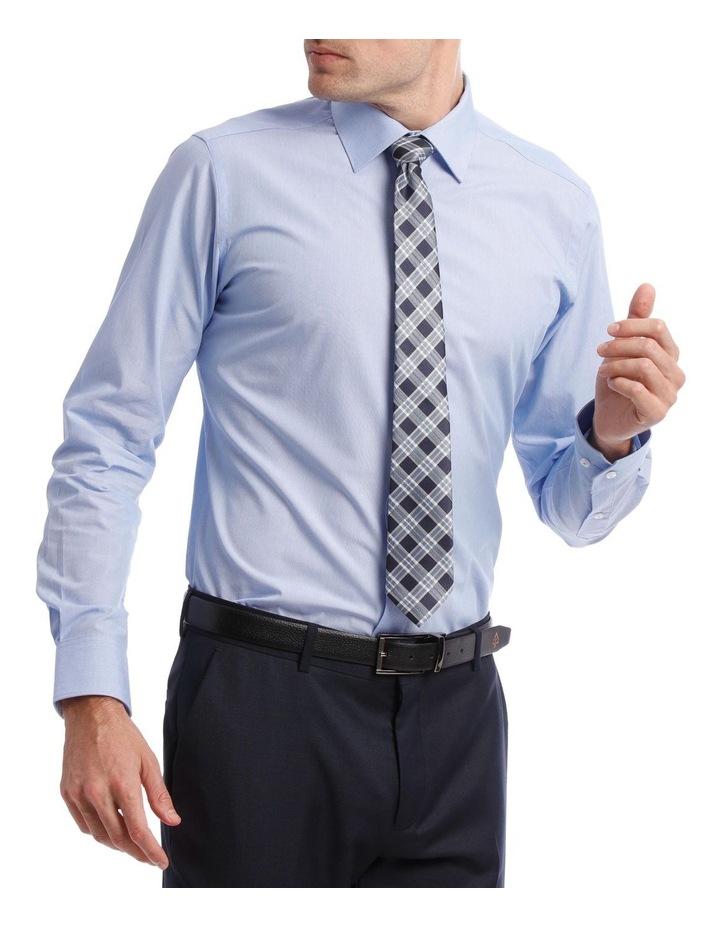 Slim Stripe Business Shirt Sky image 2