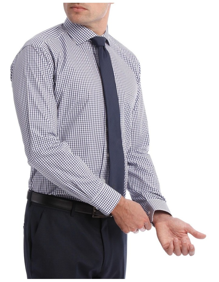 Tailored Check Business Shirt Navy image 2