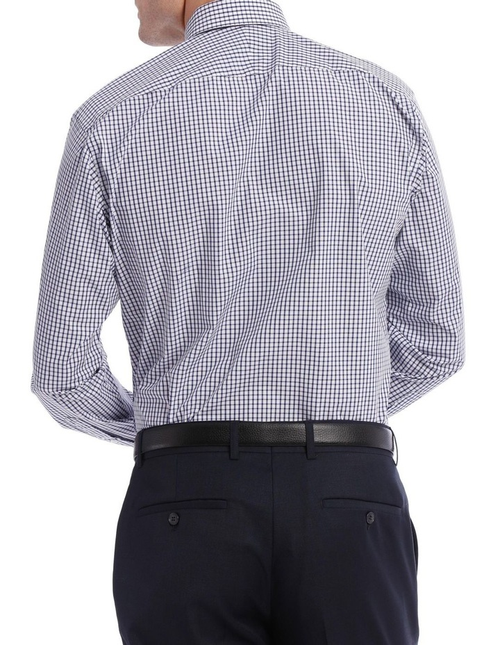 Tailored Check Business Shirt Navy image 3