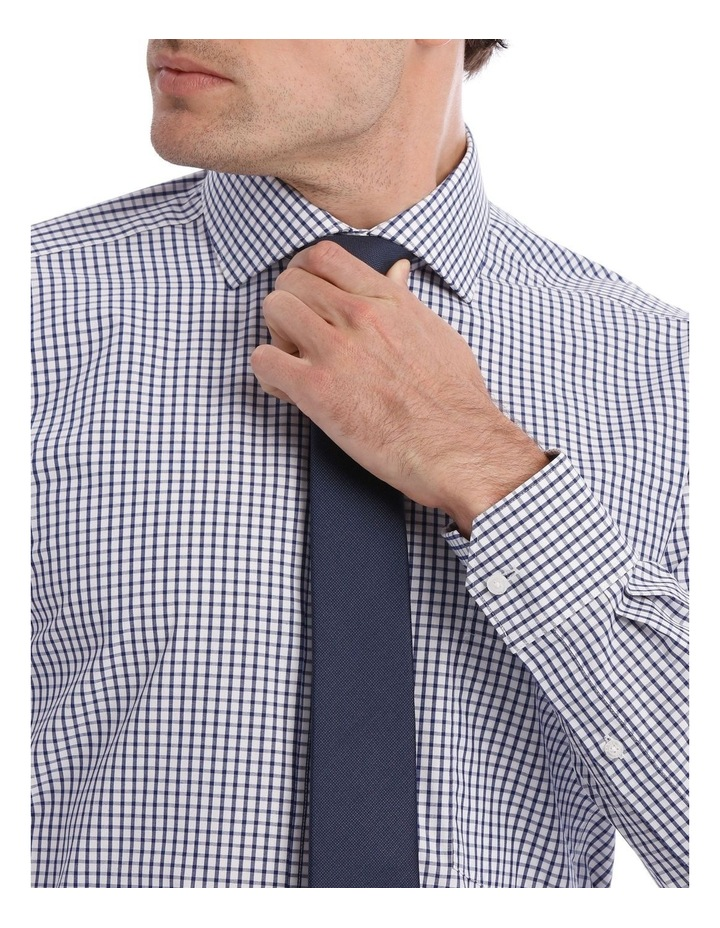 Tailored Check Business Shirt Navy image 4