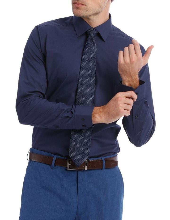 Slim Plain Business Shirt Navy image 1