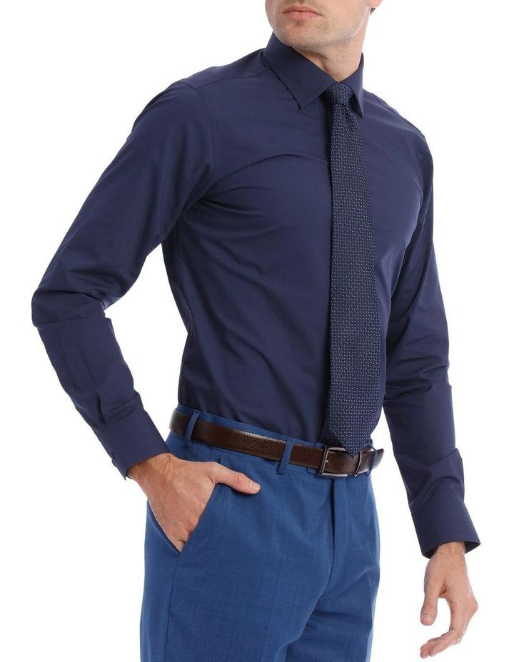 Slim Plain Business Shirt Navy image 2