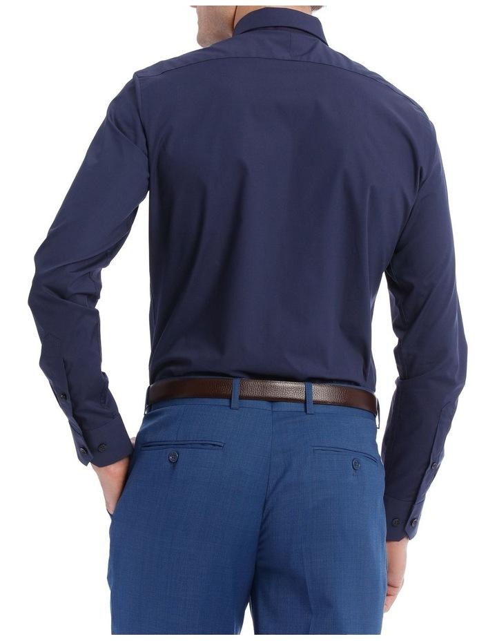 Slim Plain Business Shirt Navy image 3