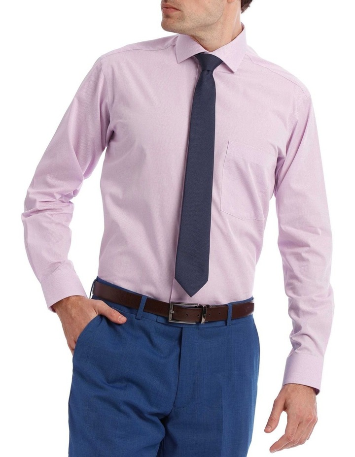 Tailored Micro-Check Business Shirt Lilac image 1
