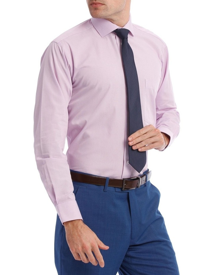 Tailored Micro-Check Business Shirt Lilac image 2