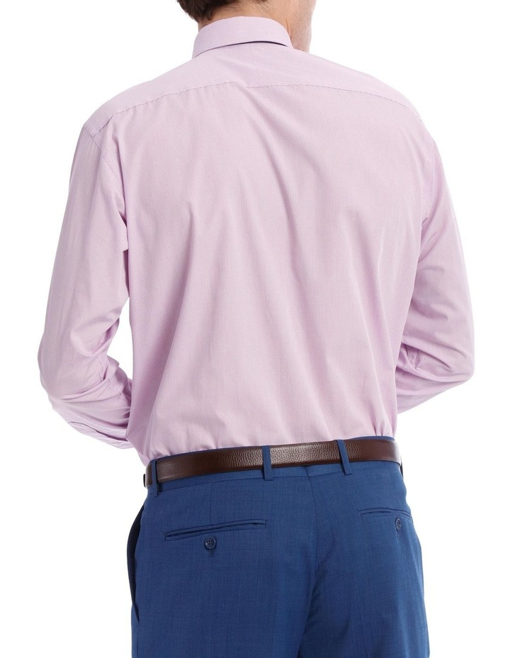 Tailored Micro-Check Business Shirt Lilac image 3