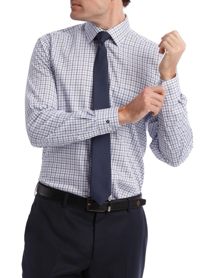 Tailored Check Business Shirt Blue image 1