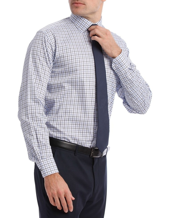Tailored Check Business Shirt Blue image 2