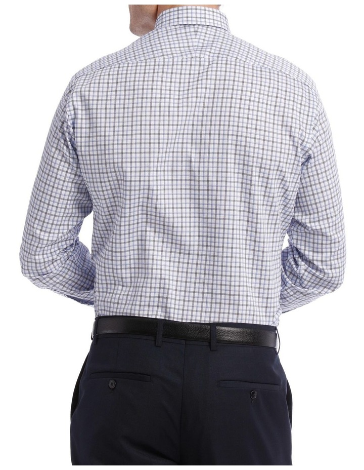 Tailored Check Business Shirt Blue image 3
