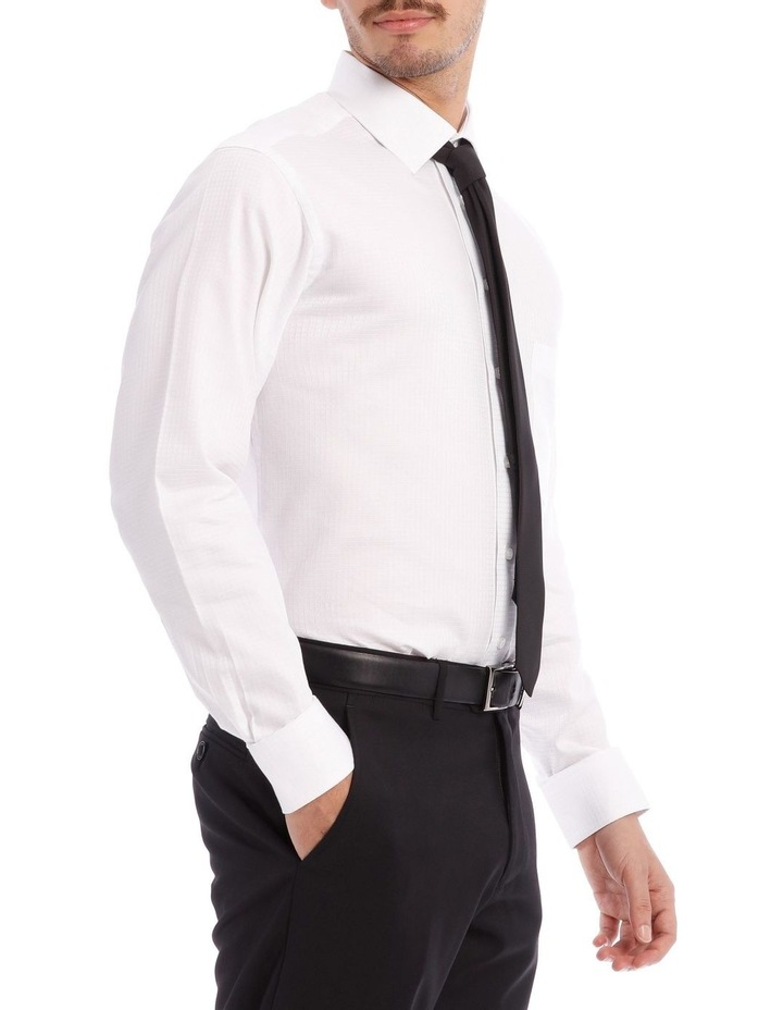 SLIM FIT SELF CHECK BUSINESS SHIRT WHITE image 2