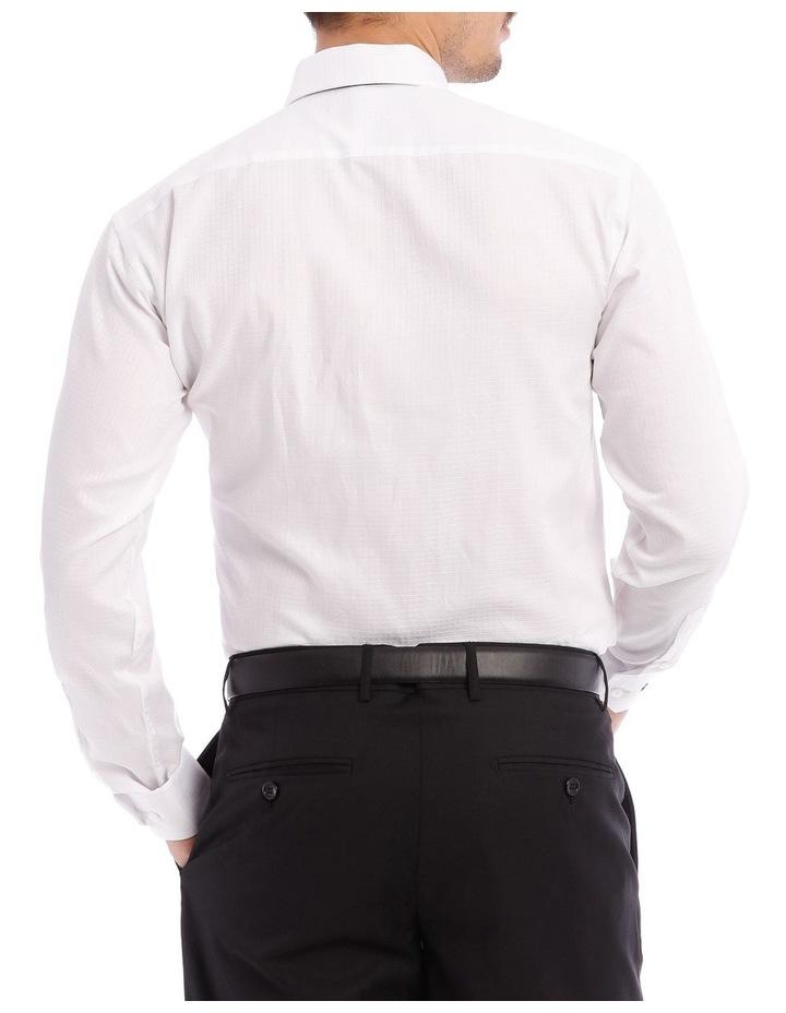 SLIM FIT SELF CHECK BUSINESS SHIRT WHITE image 3