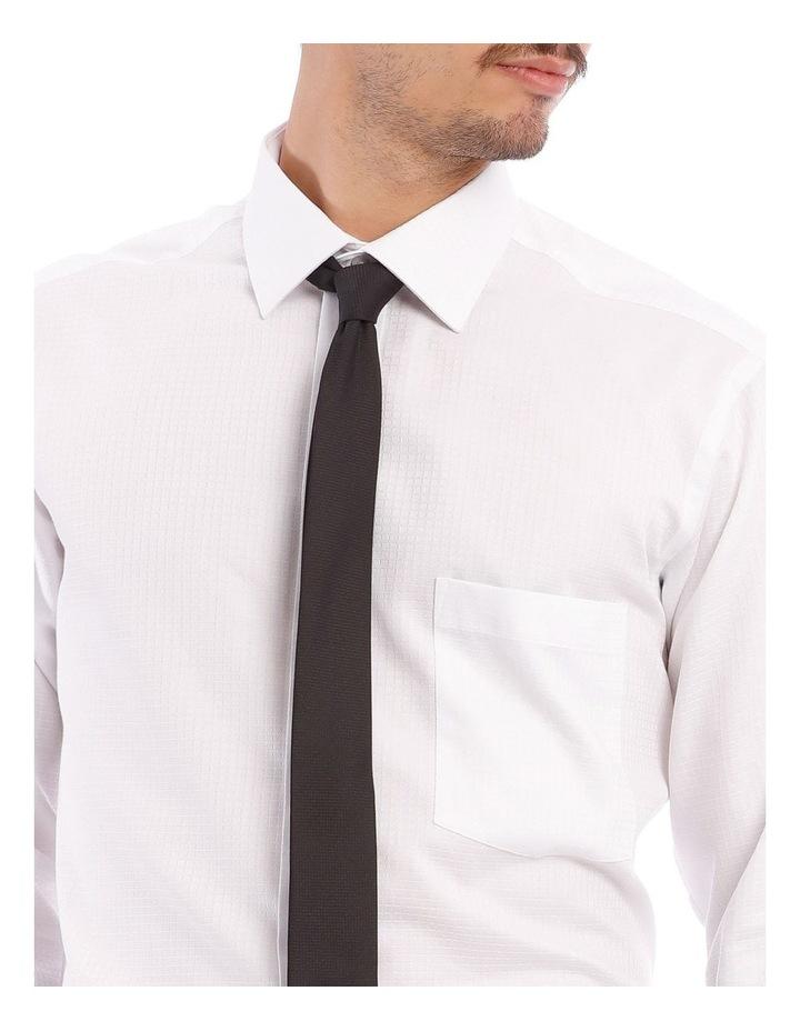 SLIM FIT SELF CHECK BUSINESS SHIRT WHITE image 4