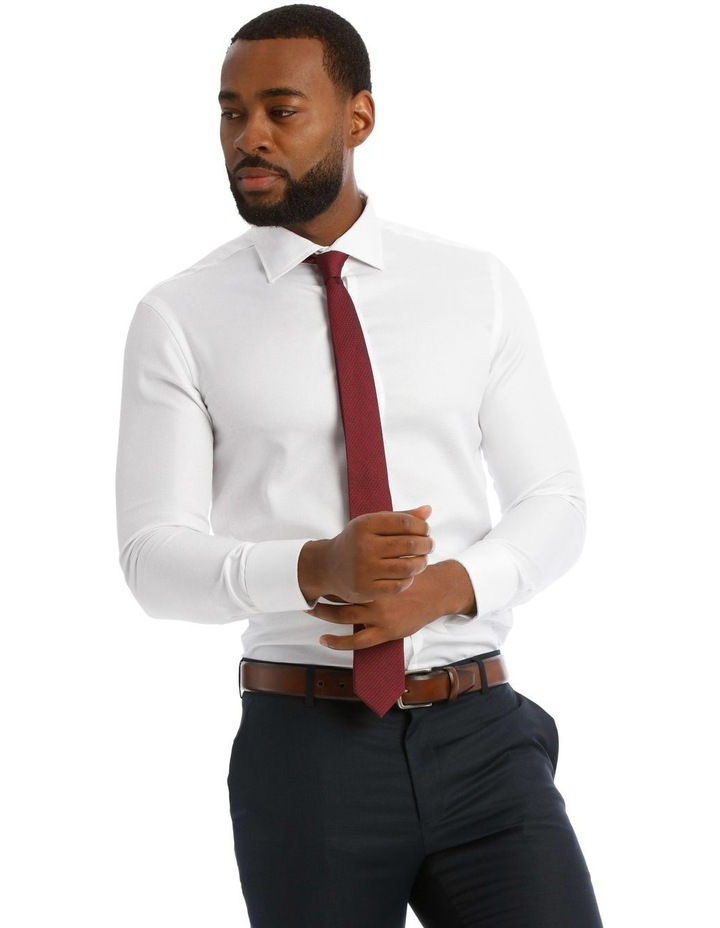Textured Plain Business Shirt image 1