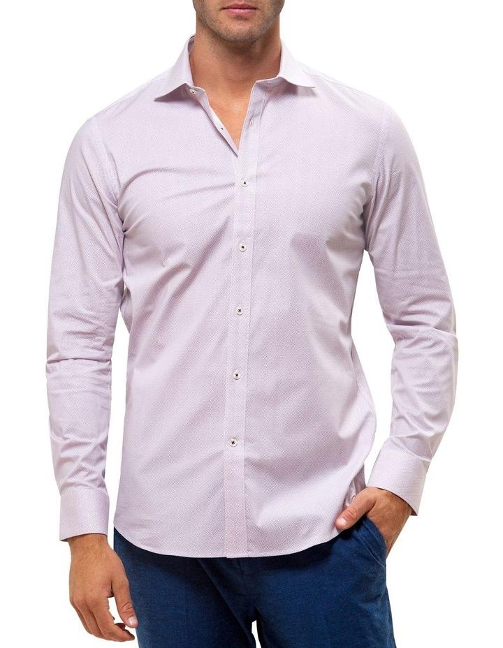 Career Stretch Geo Print Business Shirt image 1