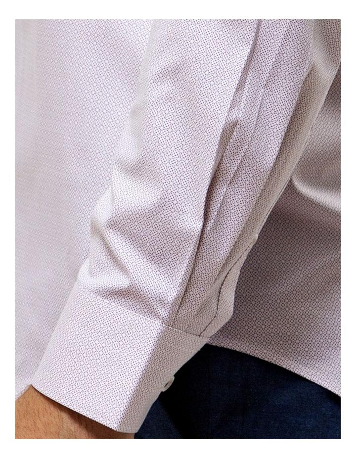 Career Stretch Geo Print Business Shirt image 4