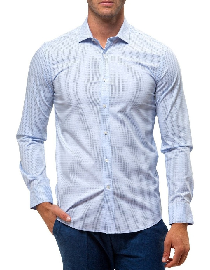 Career Stretch Two Tone Dot Print Business Shirt image 1
