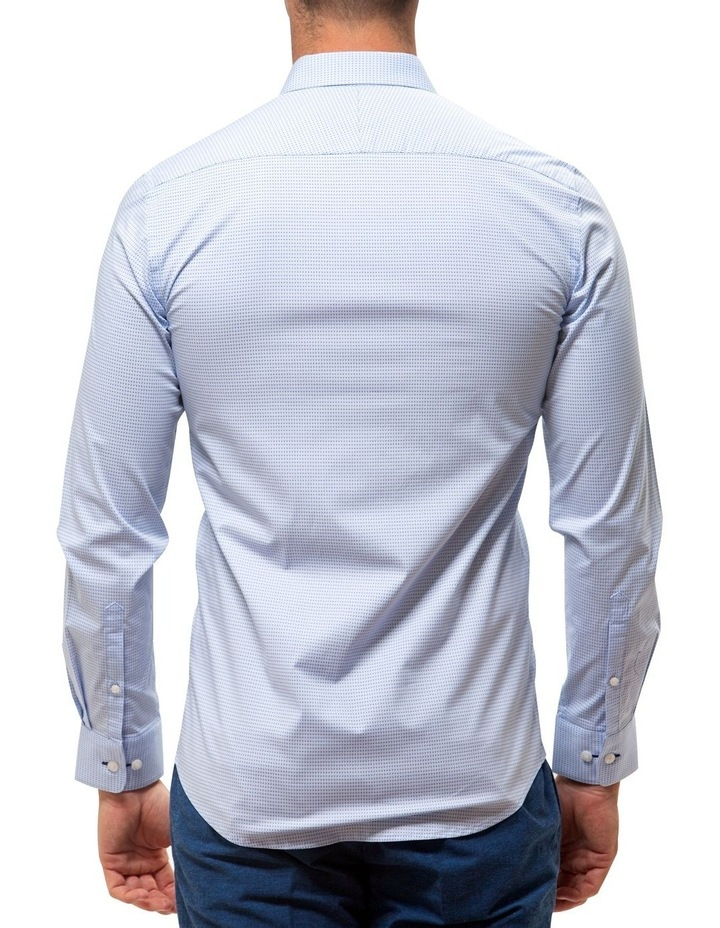 Career Stretch Two Tone Dot Print Business Shirt image 2