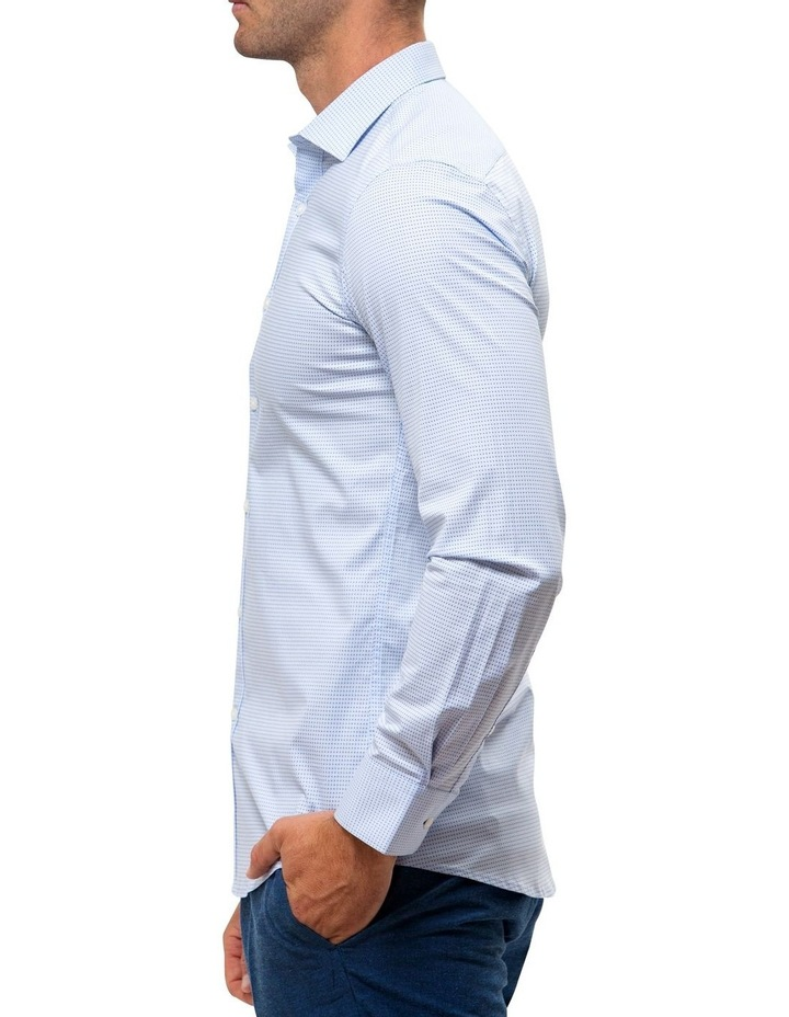 Career Stretch Two Tone Dot Print Business Shirt image 3