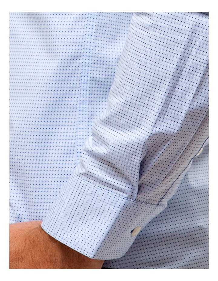 Career Stretch Two Tone Dot Print Business Shirt image 4