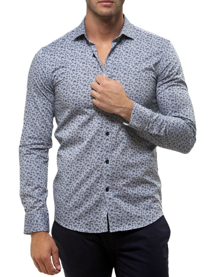Luxe Leaf Print Oxford Business Shirt image 1