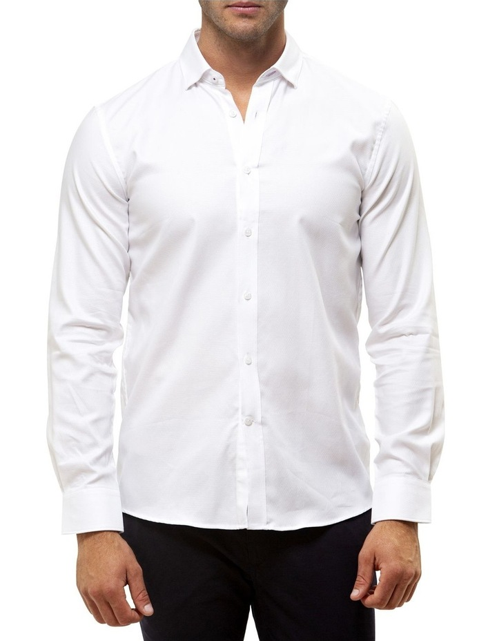 Luxe Textured Diamond Weave Business Shirt image 1