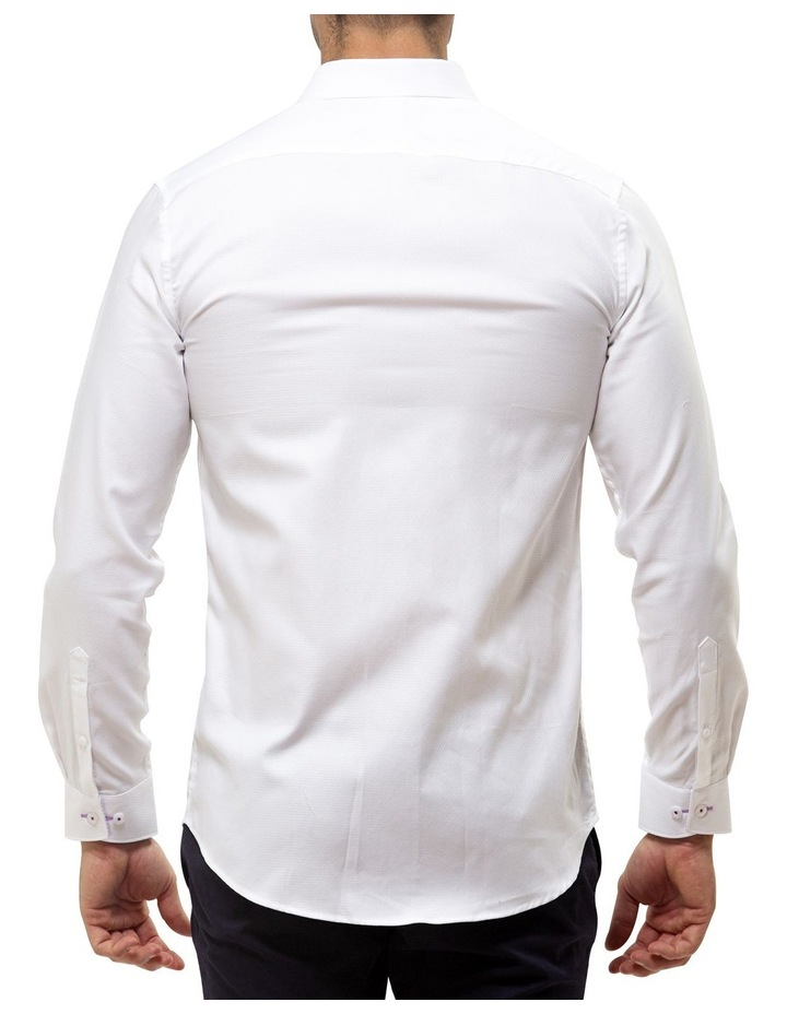 Luxe Textured Diamond Weave Business Shirt image 2