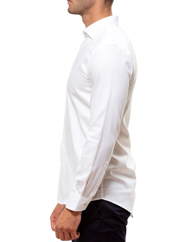 Luxe Textured Diamond Weave Business Shirt image 3