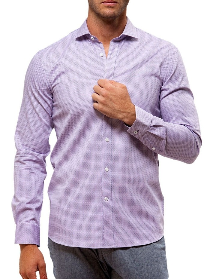 Luxe Textured Dobby Business Shirt image 1