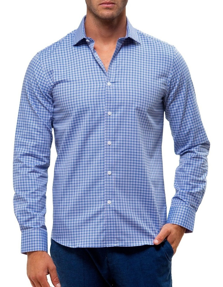 Luxe Three Tone Textured Check Business Shirt image 1