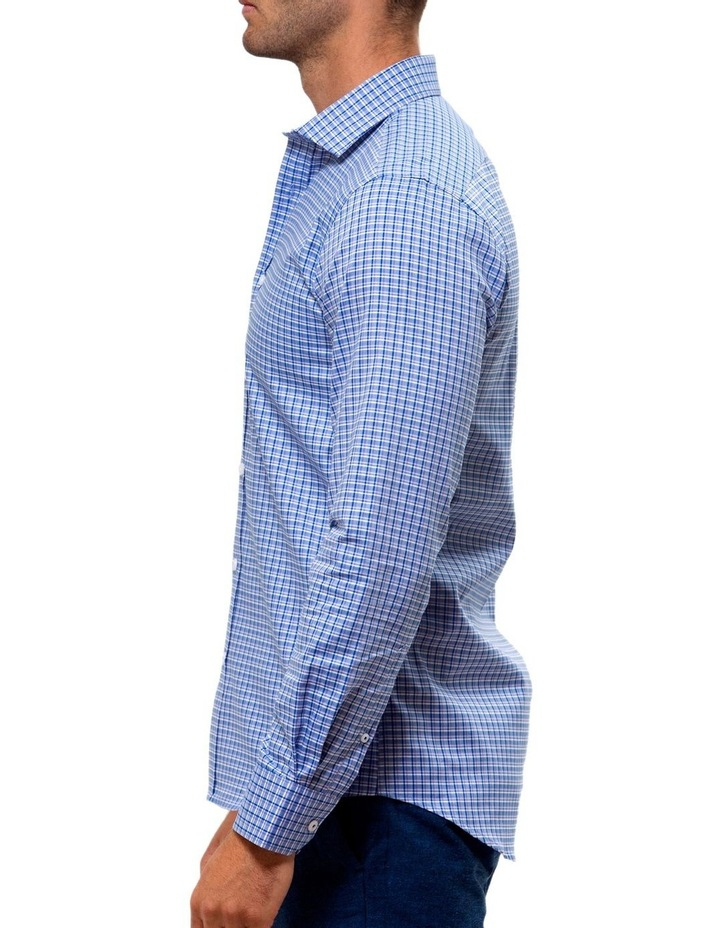 Luxe Three Tone Textured Check Business Shirt image 3