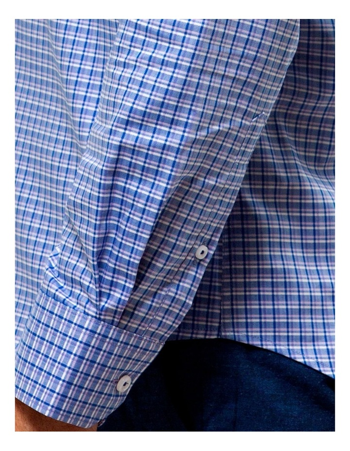 Luxe Three Tone Textured Check Business Shirt image 4