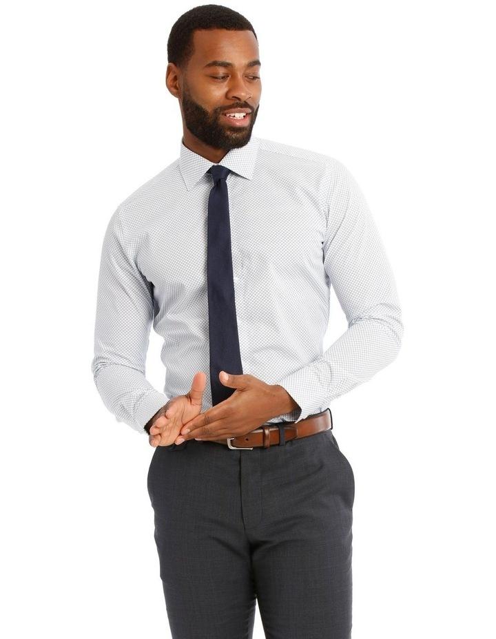 Padstow Slim Print Business Shirt image 1