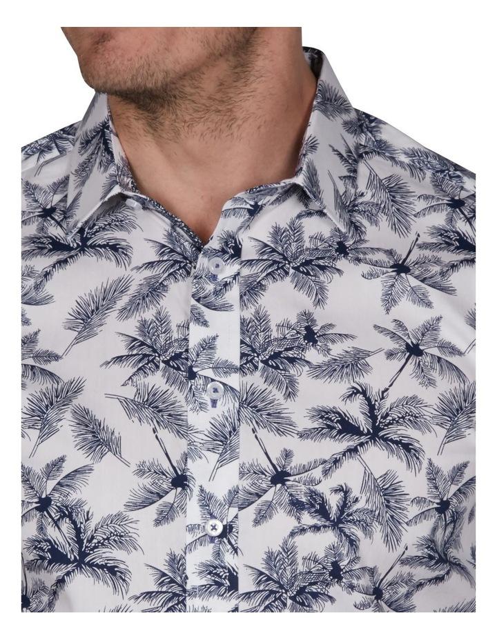 Palm Slim Print Business Shirt image 3