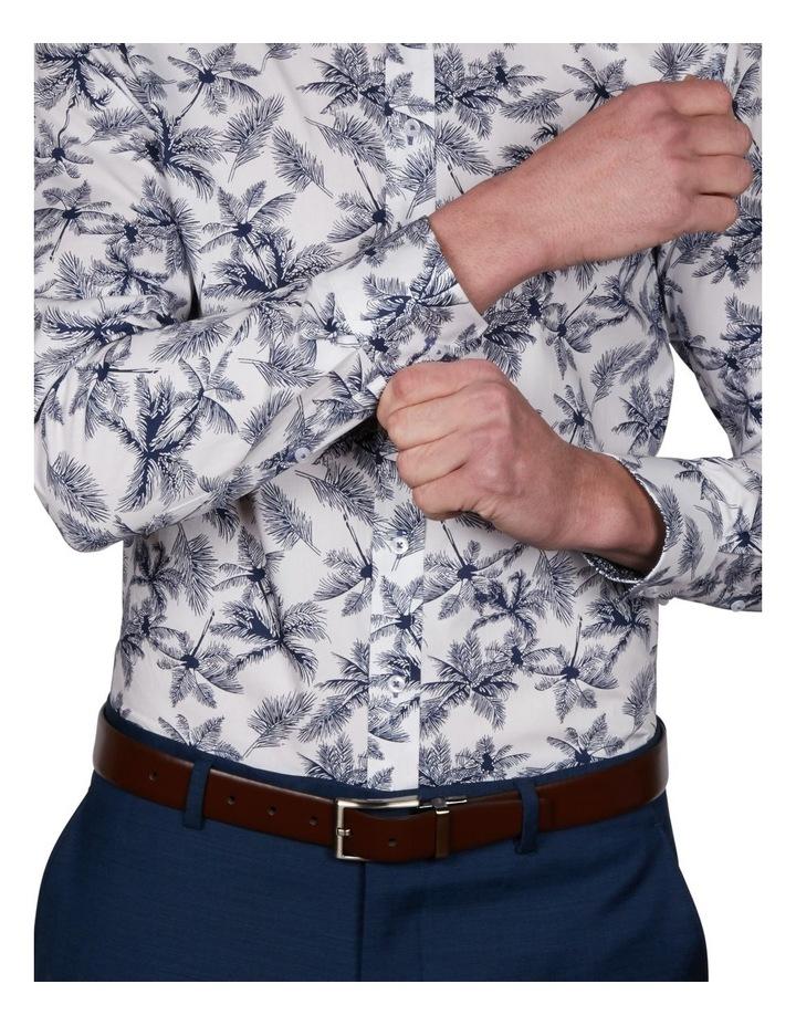Palm Slim Print Business Shirt image 4